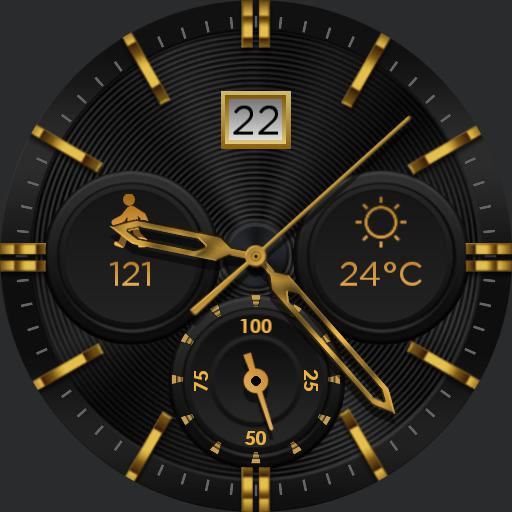 BLACK GOLD v2 Watch Face
