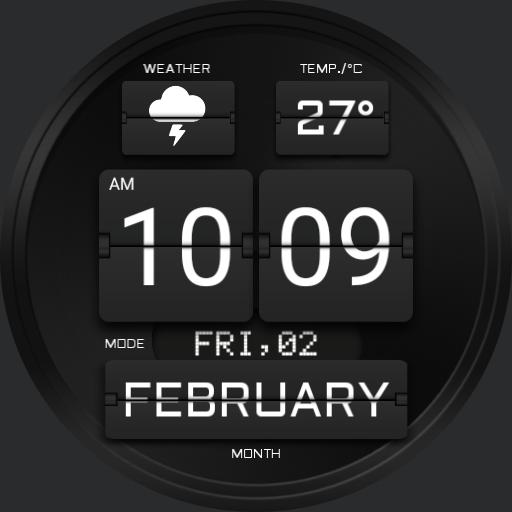 BLACK FLIP Watch Face