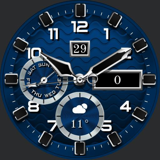 BLUE WATER v2 Watch Face