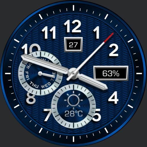 BLUE WATER Watch Face