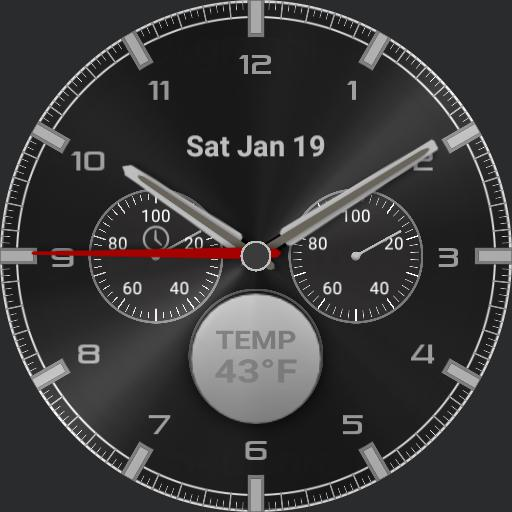 modified Chronograph temp and moon