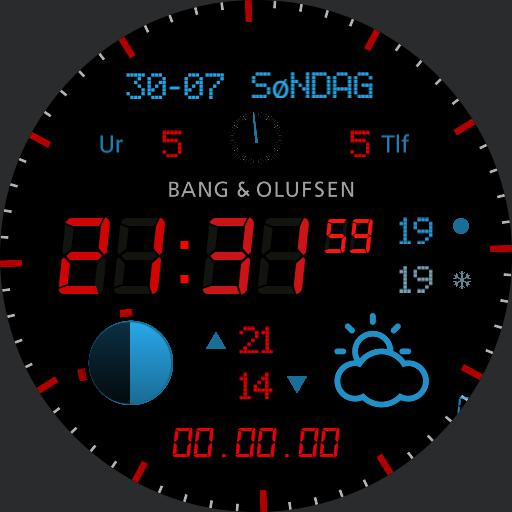 BeoWatch, DANSK DANISH layout, low energy, inspired by BANG  OLUFSEN products  - . Made for free with love Copy