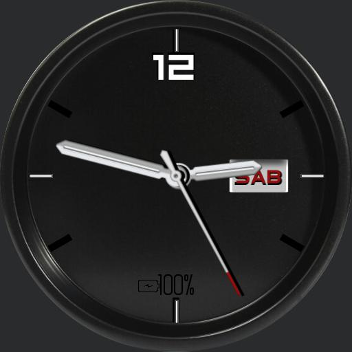 Black Classic Watch Face RLW