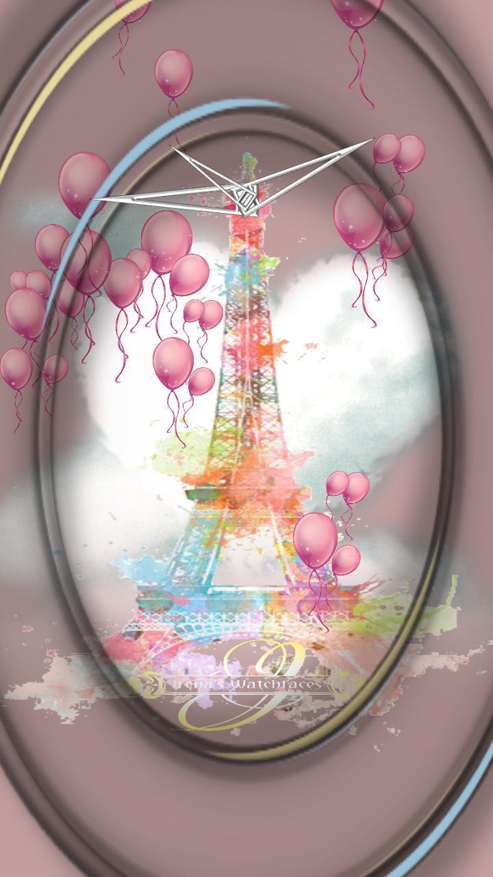 Love Paris Animation Clock