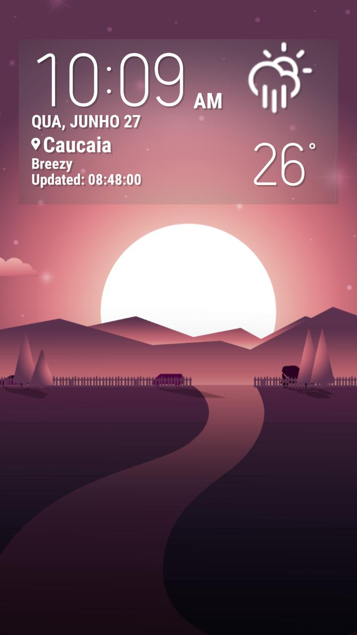 SUNSET Weather Live Wallpaper