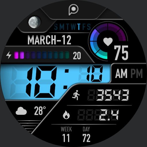 XTREME ACTIVE Watch Face
