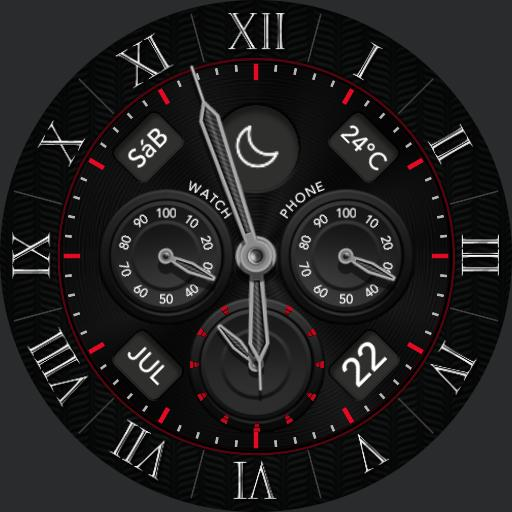 SHADOW HANDS Watch Face