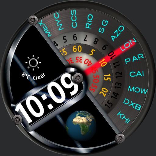 World timer Analogue