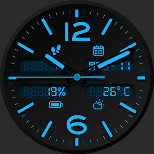 CHROMA BLACK v2 Watch Face