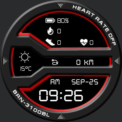 BRN-3100BL Watch Face