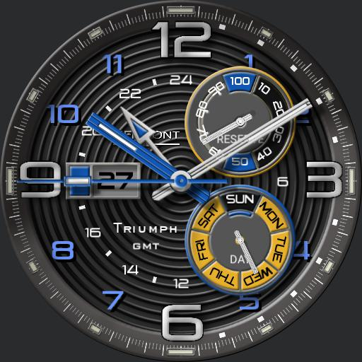 Piermont Triumph GMT Blue rc
