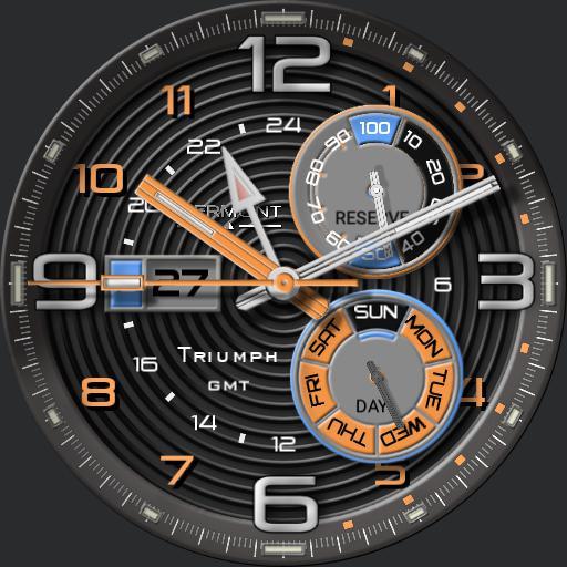 Piermont Triumph GMT Orange rc - Bonus watch