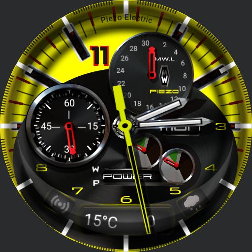 MyWatchPiezo Electric Yellow