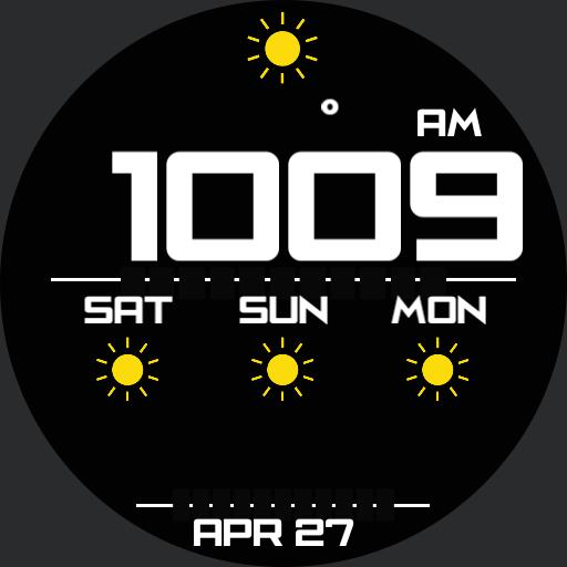 WEATHER DIGITAL Watch Face