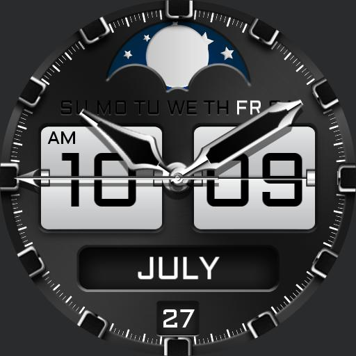 LUNAR FLIP Watch Face