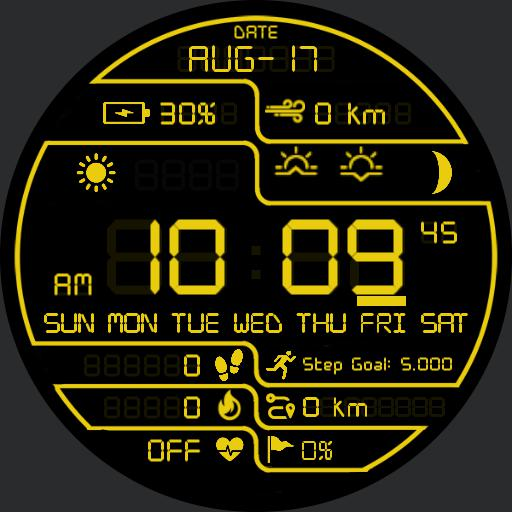 DARK PRD DIGITAL 2 Watch Face