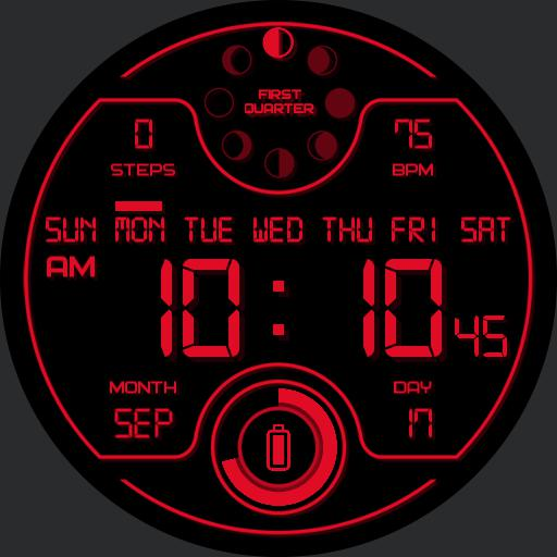 LUNAR DIGITAL DARK Watch Face