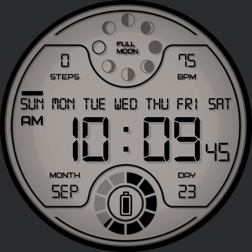 LUNAR DIGITAL Watch Face