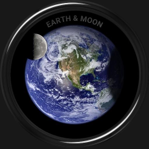 Earth and Moon by Alexander Sorokin