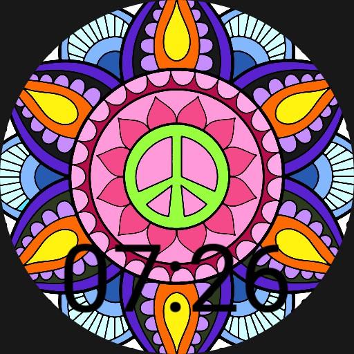 Colorful Peace Sign Mandala
