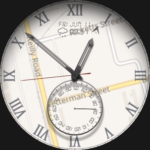 Elegant Map Watch with Heart Beat