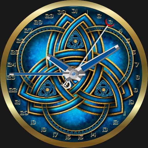 Blue Celtic Triquetra