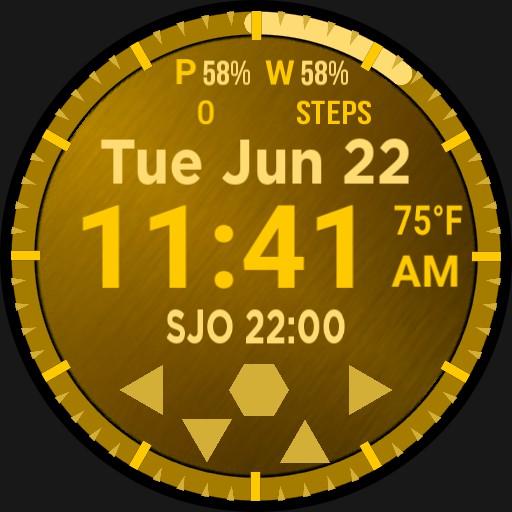Big Digital Gold Calendar Step Player