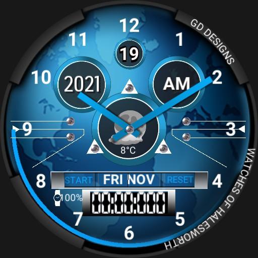 Simple Blue Watch