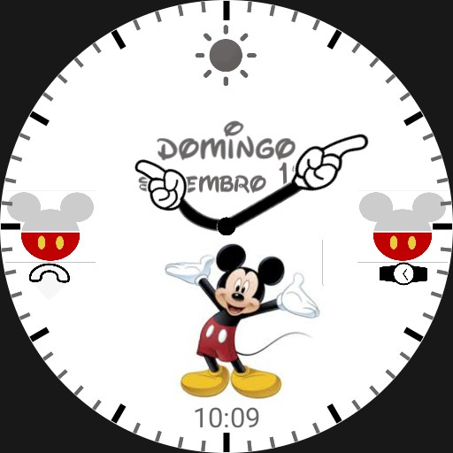 mickey mouse date and weather watch