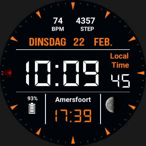 Orange watch HJ Copy
