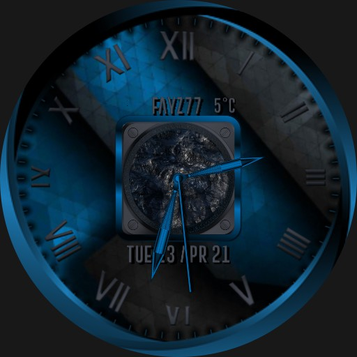 Blue and Grey watch face with motion.