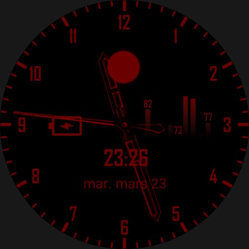 Minimal classic red watch face