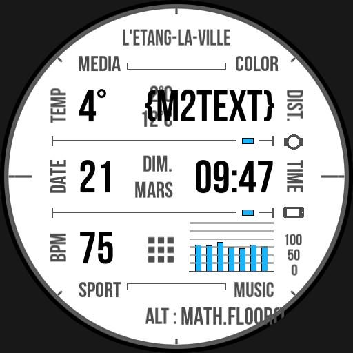 Benolf Ticwatch grid B&W & music control
