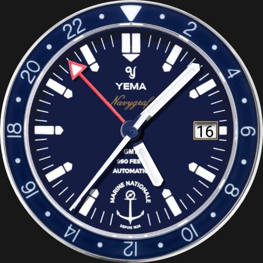 Yema Navygraf Marine Nationale GMT Limited Edition