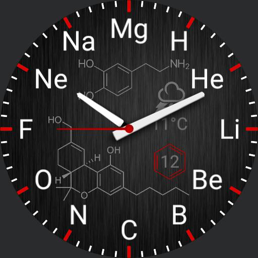 Chemical elements brushed steel Copy