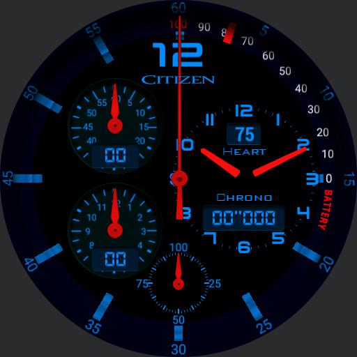 Gear S3 Chrono blu
