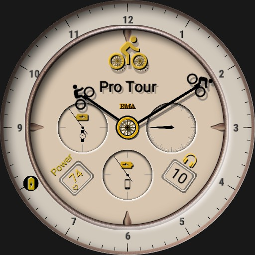 Bicycle Watch Face Ivory Pro Tour - BMA v 3.5