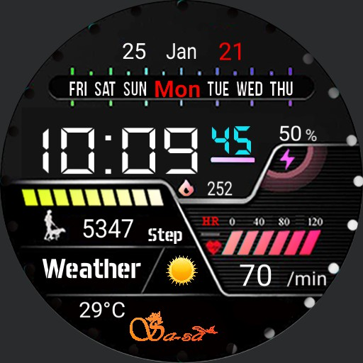 Sa_Sa digital galaxy watch active 2