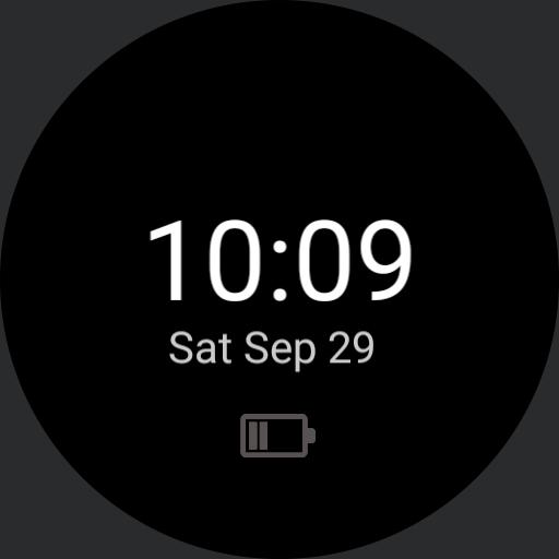 Simple Battery saver Watchface