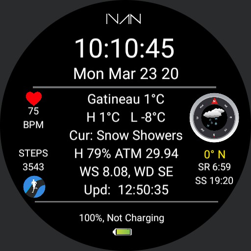 IVAN - Weather Info Dial V 2.2