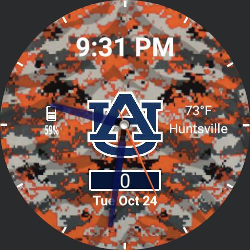 Auburn Tigers digital camo