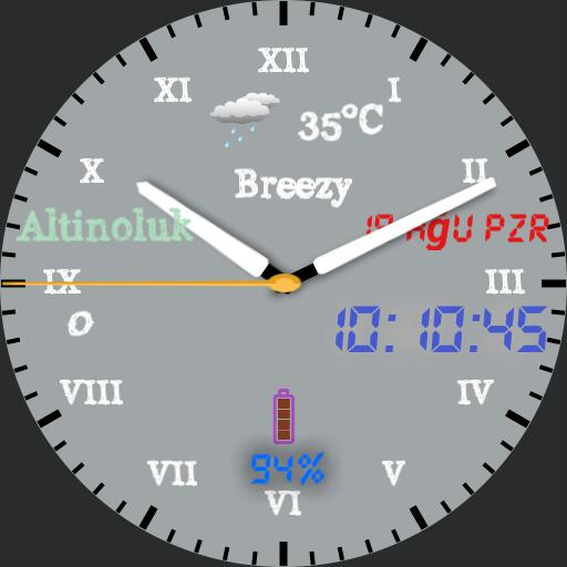 Ersin whiteAnalog Watchface