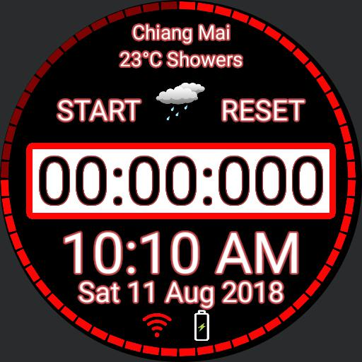 Red Weather Stop Watch