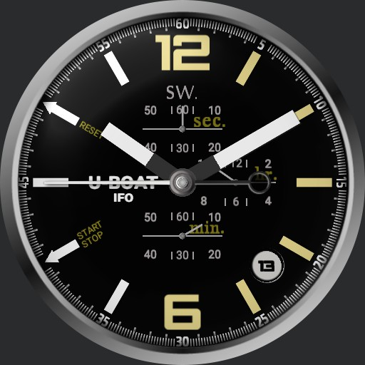 U-Boat IFO full black dial 3  Copy