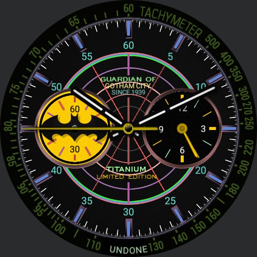 UNDONE X 80th Anniversary batman watch Copy
