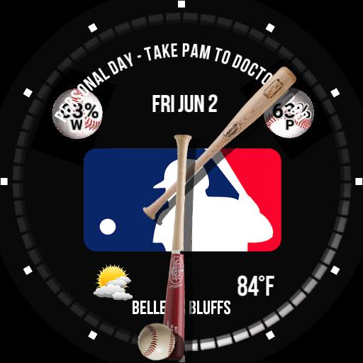 Baseball - Major League Logo - Round Watch