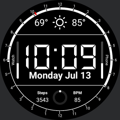 Daylight Dial with Digital Date/Time
