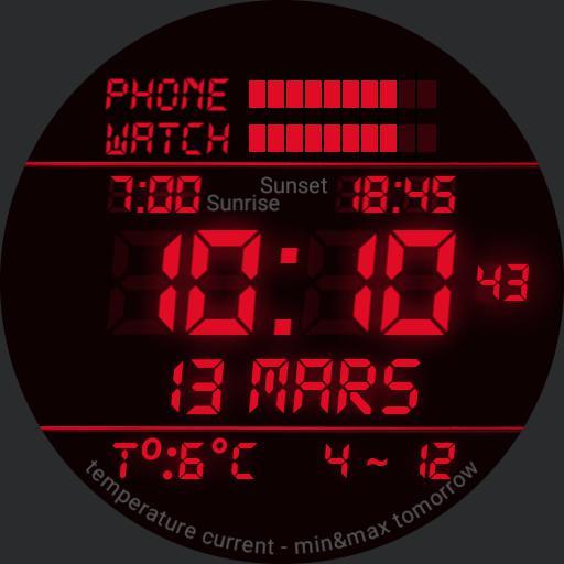 old fashioned digital watch