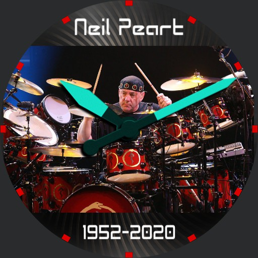 Neil Peart Rush Tribute Watch