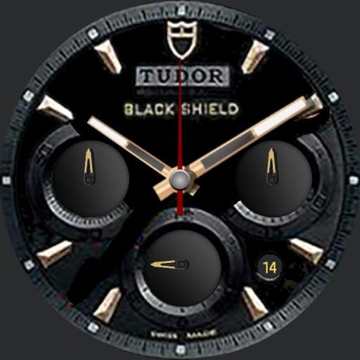 Tudor black shield